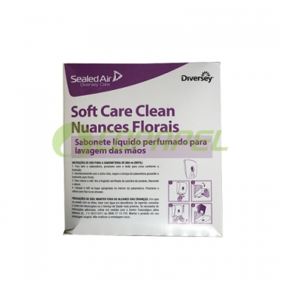 REFIL SOFTCARE CLEAN NUANCES FLORAIS 800ML