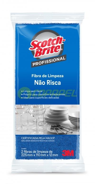 FIBRA SCOTCH BRITE NÃO RISCA INOX AZUL