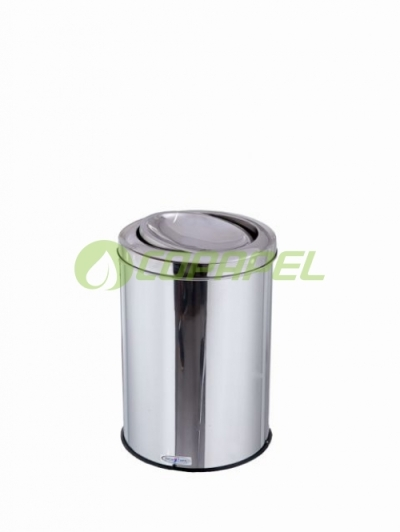 LIXEIRA 20 L INOX COM TAMPA FLIP TOP