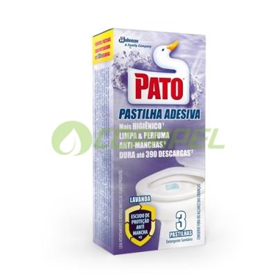 PATO PASTILHA ADESIVA LAVANDA COM 03 UNIDADES