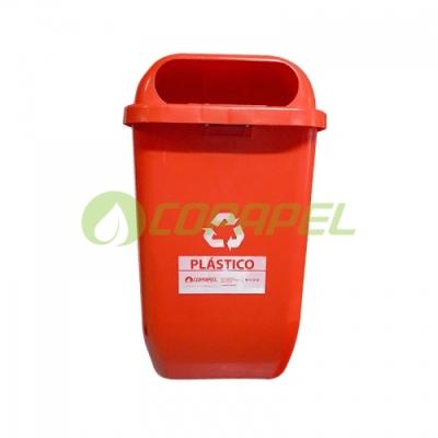 PAPELEIRA 50 L VERMELHO/PLASTICO