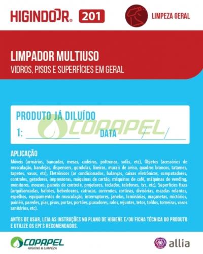 ADESIVO HIGINDOOR 201 - 8x10cm -  PRODUTO DILUÍDO