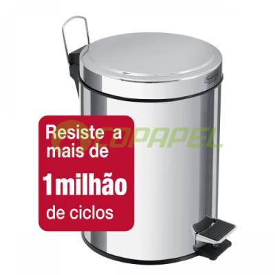 LIXEIRA 05 L INOX COM PEDAL