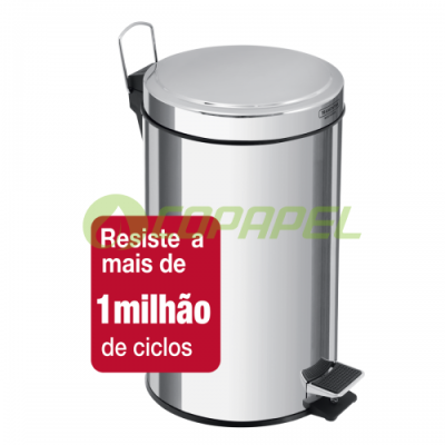 LIXEIRA 20 L INOX COM PEDAL